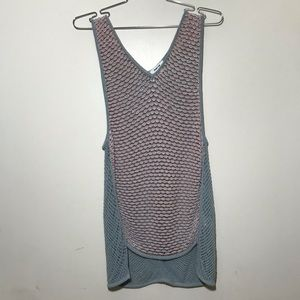 Helmut Lang Pale Blue Multicolor Knitted Tank Top